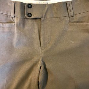 Banana Republic Sexy Flare Taupe Pants Size 14